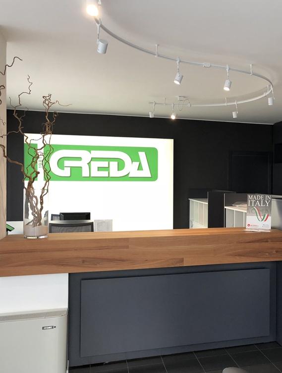Headquarter reception Greda Srl