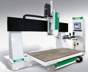 6 axes NC-machining center with Solid fixed gantry structure with mobile mold thermoforming table