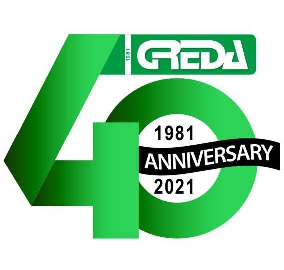 Greda Srl logo anniversary 40 years of activity