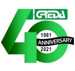 Greda Srl logo anniversary 40 years of activity