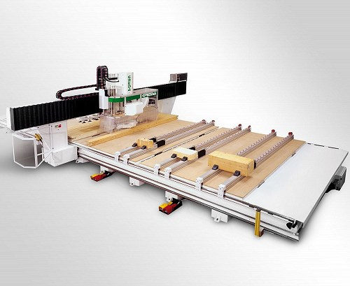 cnc woodworking processing of particularly bulky elements, including walls, beams and roofs of different materials - Argo Gantry 5AMD