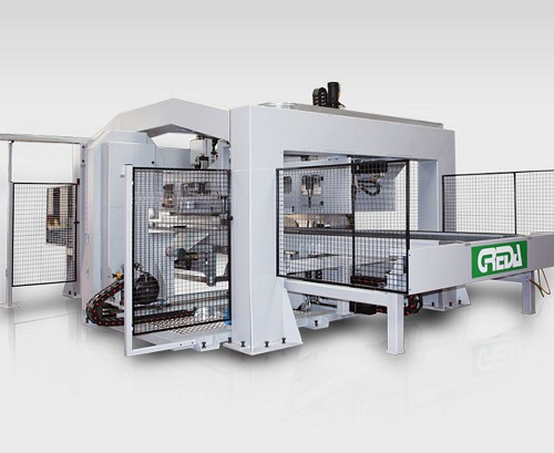 cnc dedicated to the complete machining of cable holder reels - Argo Multiprocess