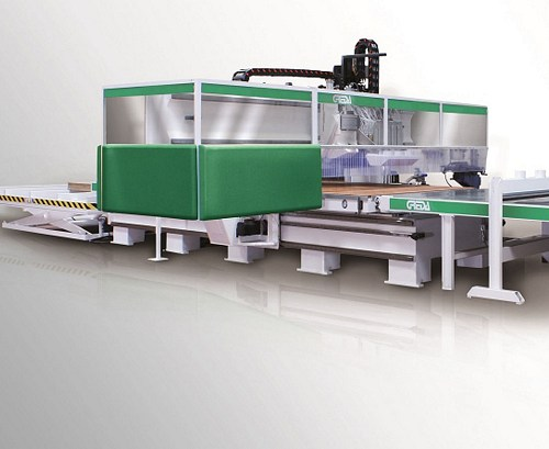 wood machining center for nesting designed for the serial processing of large-sized panels - Argo Gantry CM7