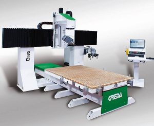wood cnc performs tenoning milling for: rifle stocks, energy generators, advertising, molds, musical instruments, thermoforming - Diva R1CU