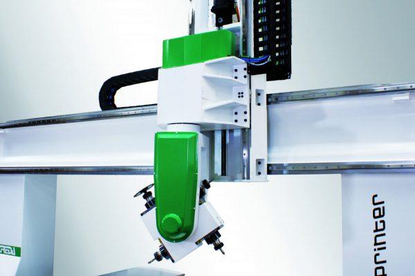 cnc lavcorazione legno Testa operatrice dotata di 4 elettro-mandrini indipendenti