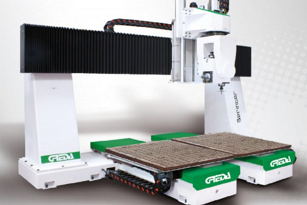 cnd legno alluminio con Bancale di lavoro singolo o doppio per lavorazione alternata